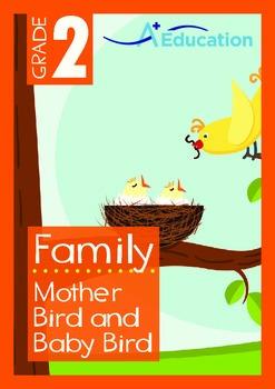Family - Mother Bird and Baby Bird - Grade 2