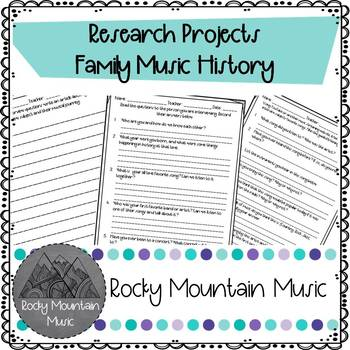 Family Music Research Project