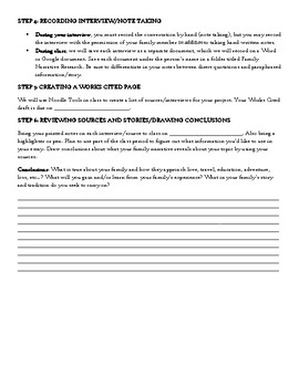 Family Narrative Research Project