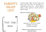 Family Night Out Invitiation