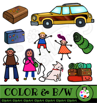 Family Outing Clip Art Set