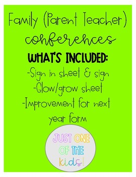 Family (Parent Teacher) Conference Forms