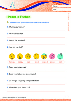 Family - Peter's Father - Grade 1