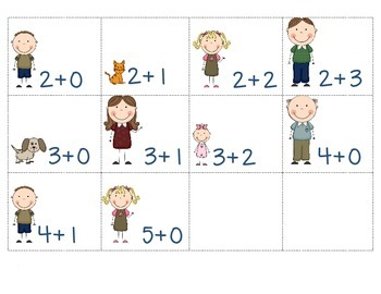 Family & Pets Addition Fluency Facts to 5