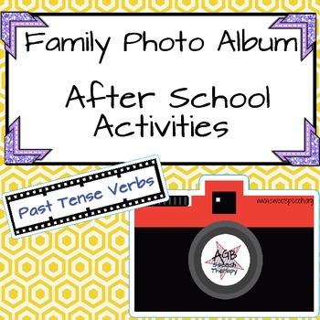 Family Photo Album - After School Activities - Past Tense Verbs