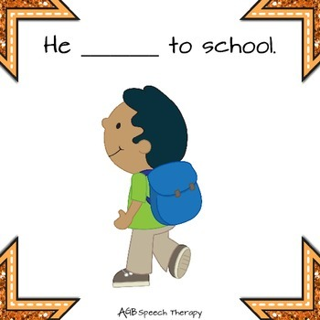 Family Photo Album - First Day of School - Past Tense Verbs