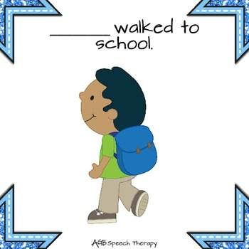Family Photo Album - First Day of School - Pronouns