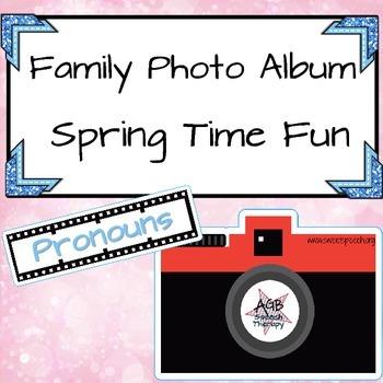 Family Photo Album – Spring Time Fun - Pronouns