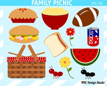 Family picnic clipart commercial use