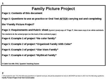 Family Picture Project 2nd Ed. (Dibuja tu familia)