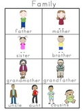 Family Picture Word Bank and Picture Cards