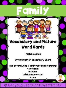 Family Picture Word Vocabulary Bundle for Kindergarten