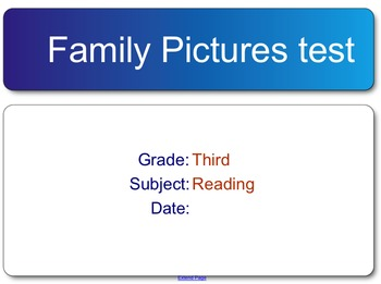 Family Pictures Test