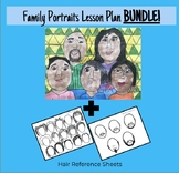 Family Portrait Lesson Plan and Hair Reference Sheets (BUNDLE)