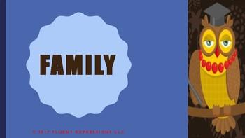 The Blue Cloud Bubble ESL Power Point Lesson-Family