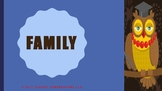 The Blue Cloud Bubble ESL PDF/PowerPoint Lesson-Family