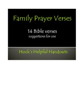 Family Prayer Verses