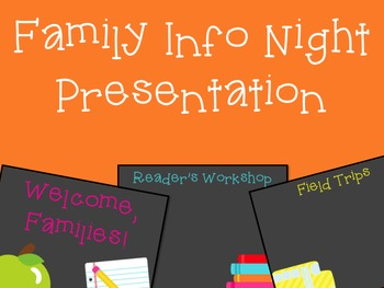 Curriculum Night Presentation Pack