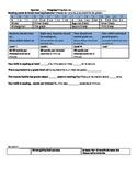 Family Progress Report with Literacy, Math, Behavior Check