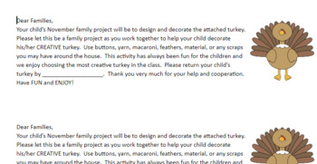 Family Projects- Monthly Themed