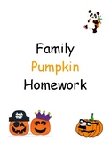 Family Pumpkin Homework