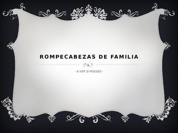 Family Puzzle Questions / La Familia Rompecabeza Preguntas