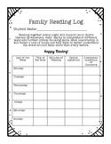 Family Reading Log