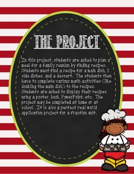 Family Reunion Meal Plan- A Fraction Project