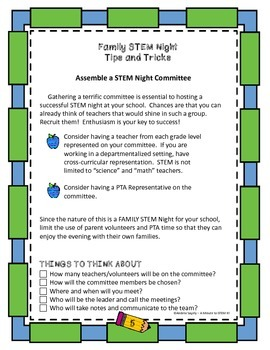 Family STEM Night Planning Guide