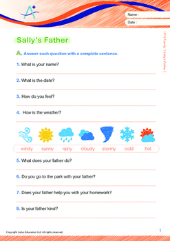 Family - Sally's Father - Grade 1