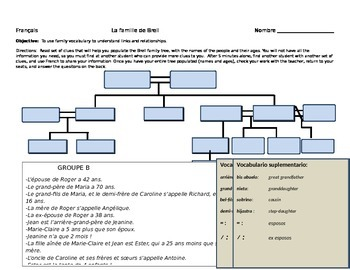 Family  Scavenger Hunt: using clues to make a family Tree