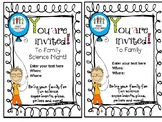 Family Science Night Editable Invite
