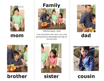 Family Sign Language (ASL) Vocab Cards and Interactive Activity Pages