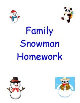 Family Snowman Homework