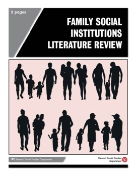 Family Social Institutions Literature Review