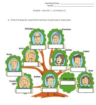 Family Spanish Vocabulary Practice by Spanish EdTech | TpT