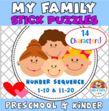 Family Stick Puzzles Number Sequence Preschool