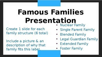 Family Structures Activity