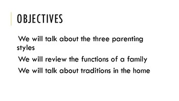 Family Styles and Functions