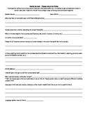 Family Survey for Beginning of Year English Spanish