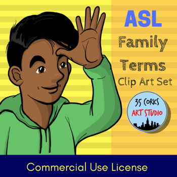 Family Terms - American Sign Language ASL Clip Art Set (COMMERCIAL LICENSE)