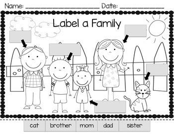 Family Theme Math Literacy Activities Kindergarten Tpt