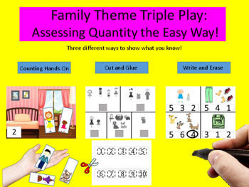 Family Theme Triple Play - Assessing Quantity the Easy Way