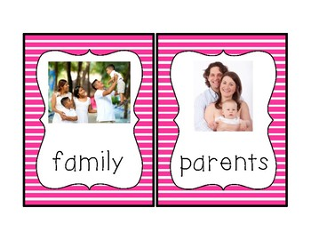 Family Theme Vocabulary Cards
