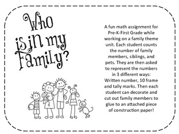 Family Themed Math Worksheet