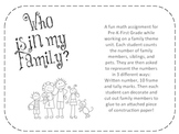 Family Themed Math Worksheet