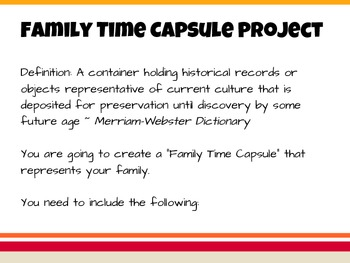 Family Time Capsule Project