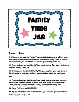 Family Time Jar