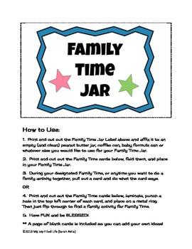 Family Time Jar