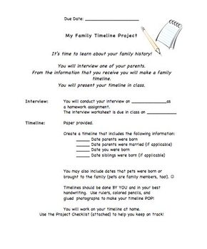 family timeline project interview project elementary interview